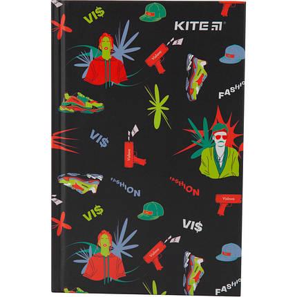 Книга записна тверда обкл. А6, 80арк. кл VIS-3 vis19-199-3 Kite, фото 2