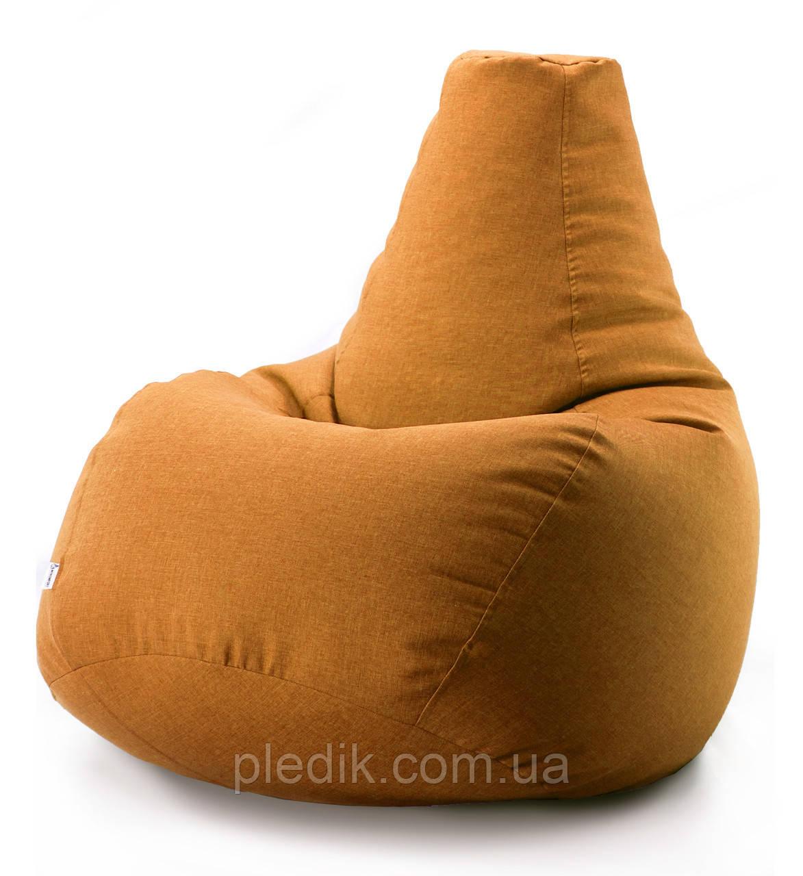 Кресло мешок груша микро-рогожка 100*140 см Оранжевый