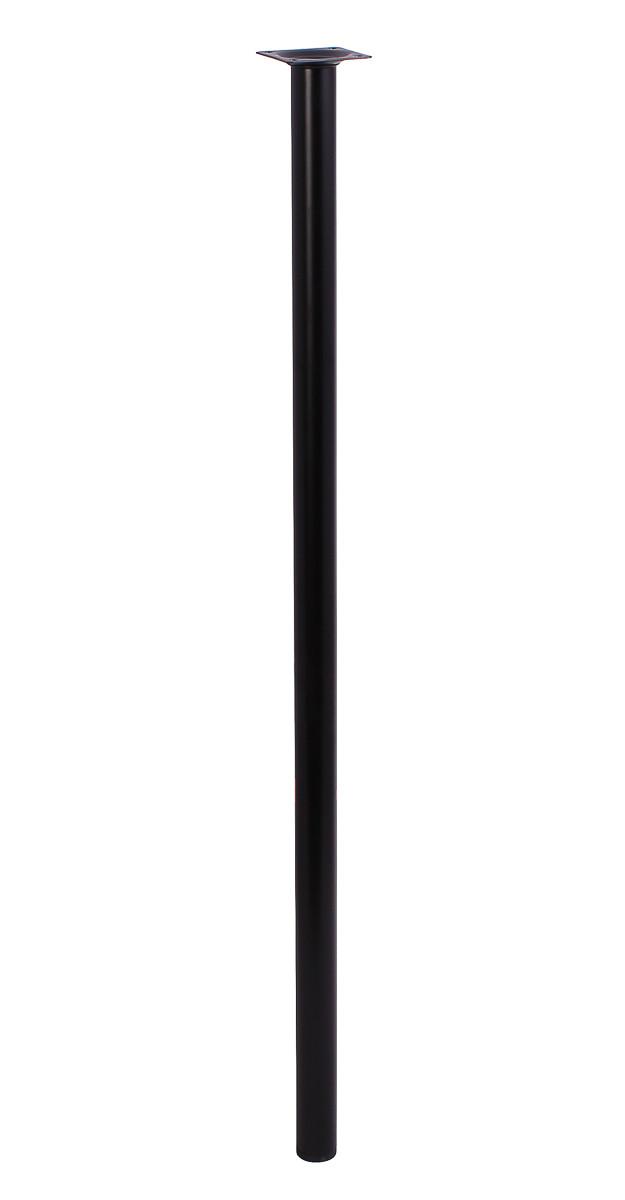 Мебельная нога Larvij 800 x 30 мм черная (L61R80BL30). Мебельная ножка. Мебельная опора. Круглая