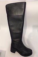 Кожаные на меху ботфорты, фото 1