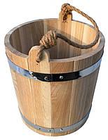 Ведро из дуба для бани 7 литров, фото 1