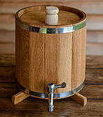Бочка (збан) дубовий для напоїв 10 літрів (вертикальний)