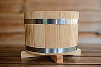 Кадка деревянная для растений 5 л. из дуба, фото 1