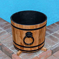 Кадка деревянная для растений 30 литров из ясеня, фото 1