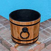 Кадка деревянная для растений 30 литров из дуба