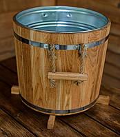 Кадка для растений 32 литра с металлической вставкой (ясень), фото 1