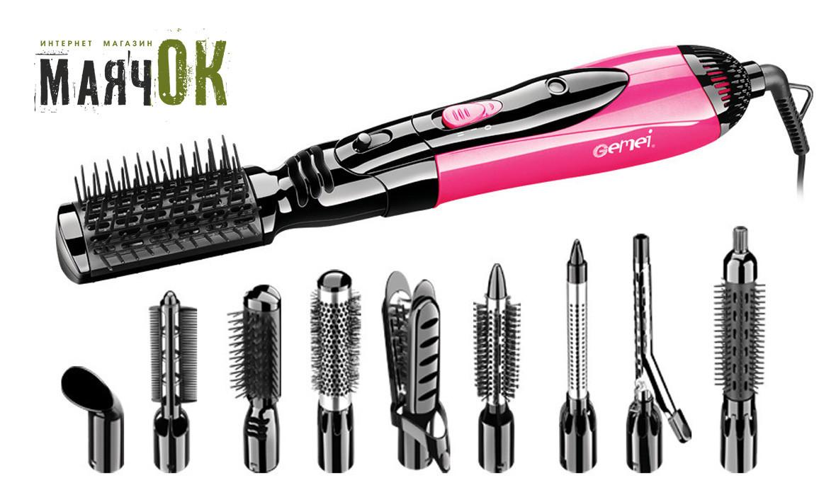 Воздушный стайлер для волос Gemei GM-4835, 10 в 1