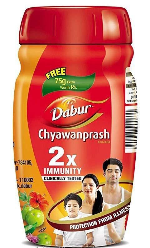 Чаванпраш Дабур - імунітет і профілактика ОРЗ, оригінальний Індія 500+75 гр