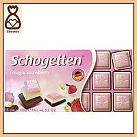 Шоколадки Schogetten, 100г, Тройная клубника