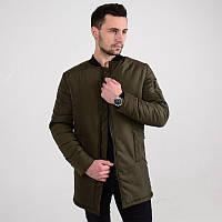 Мужская демисезонная длинная куртка Strong олива, фото 1