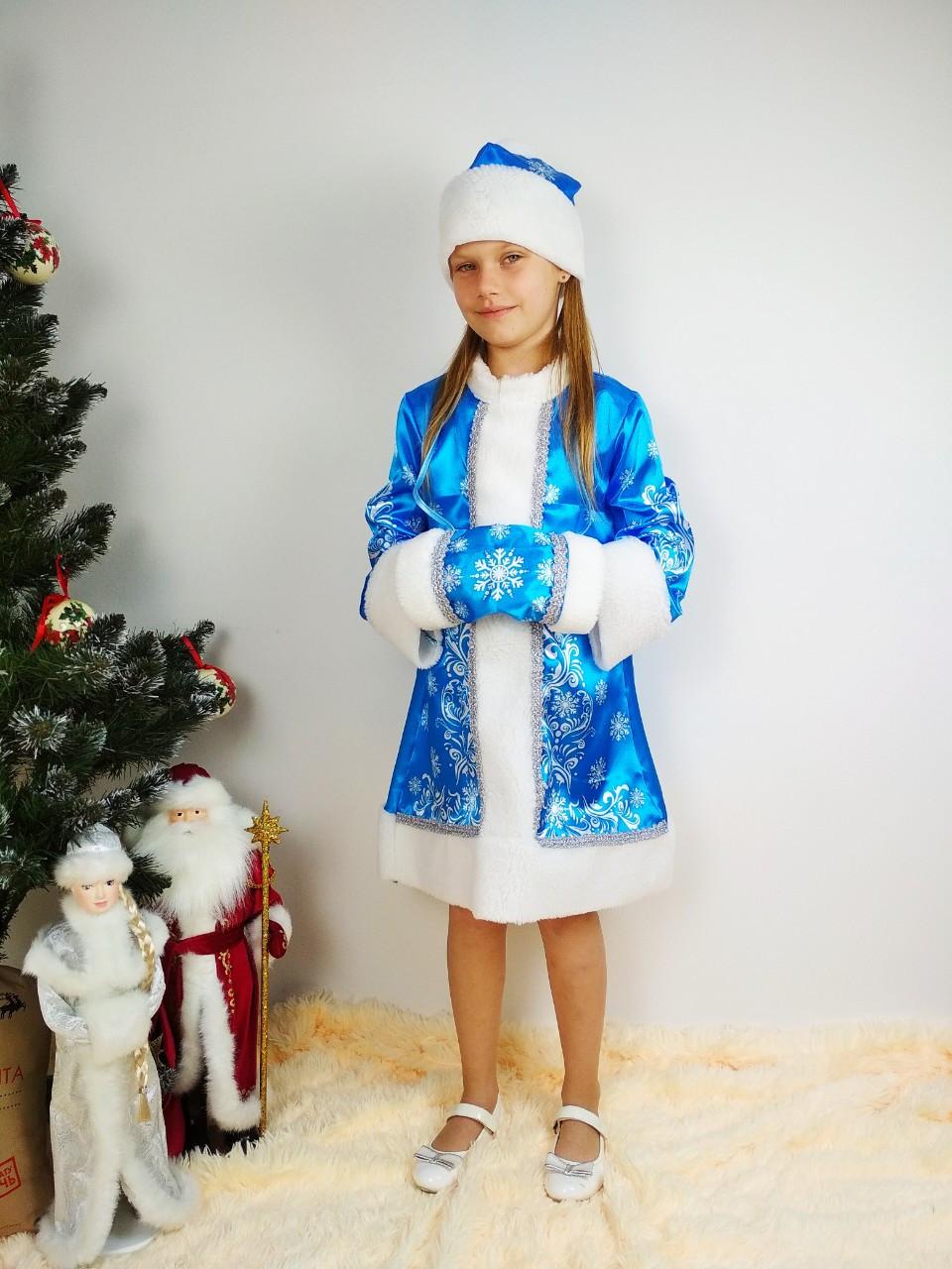 Новогодний детский костюм снегурочки