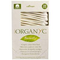 Organyc, Beauty, Органические хлопковые ватные палочки, 200 штук