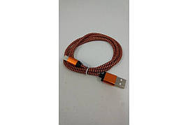 Шнур iPhone-USB I10 круглая плетёнка ткань в цвете