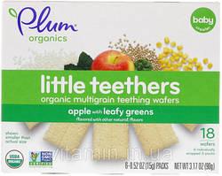 Печенье для прорезывания зубов, Teething Wafers, Plum Organics, 6 пак.