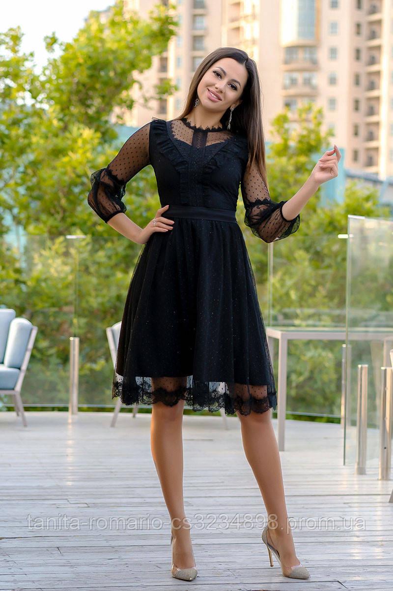 Коктейльное платье 9151e Чёрный S M L