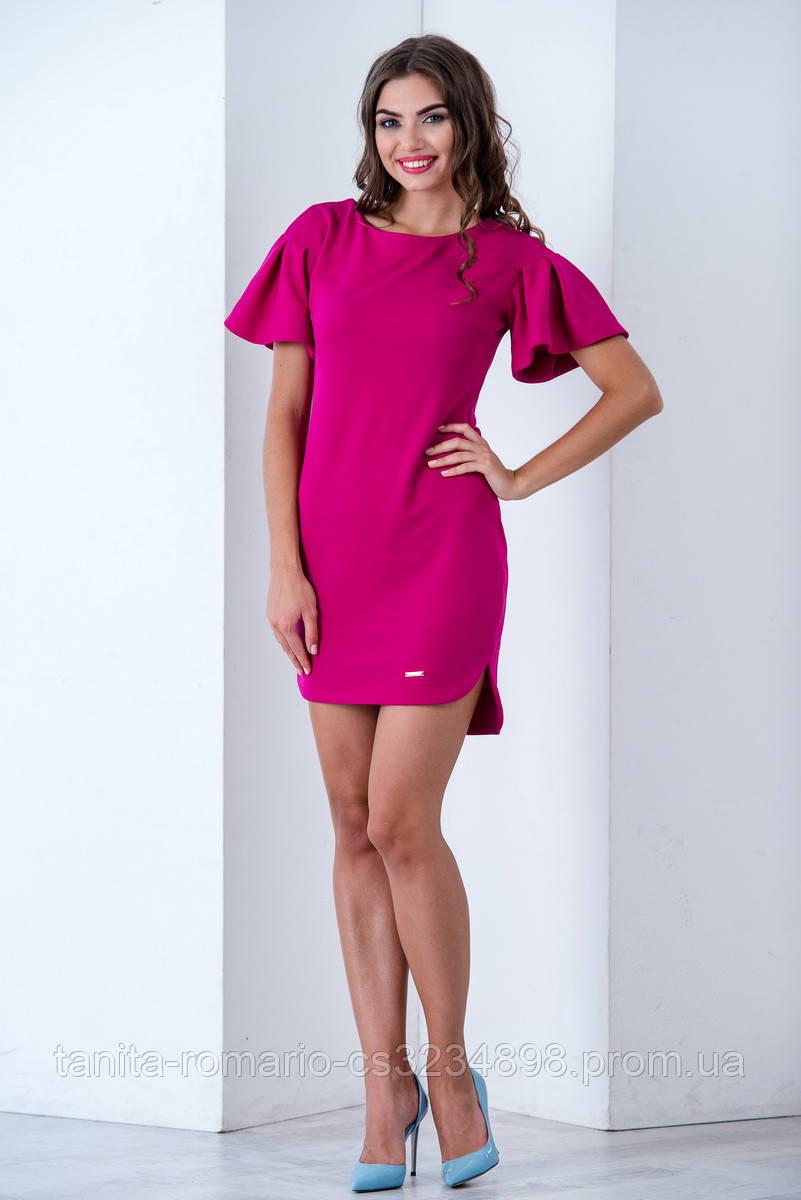Повседневное платье 6172e Фуксия S M L
