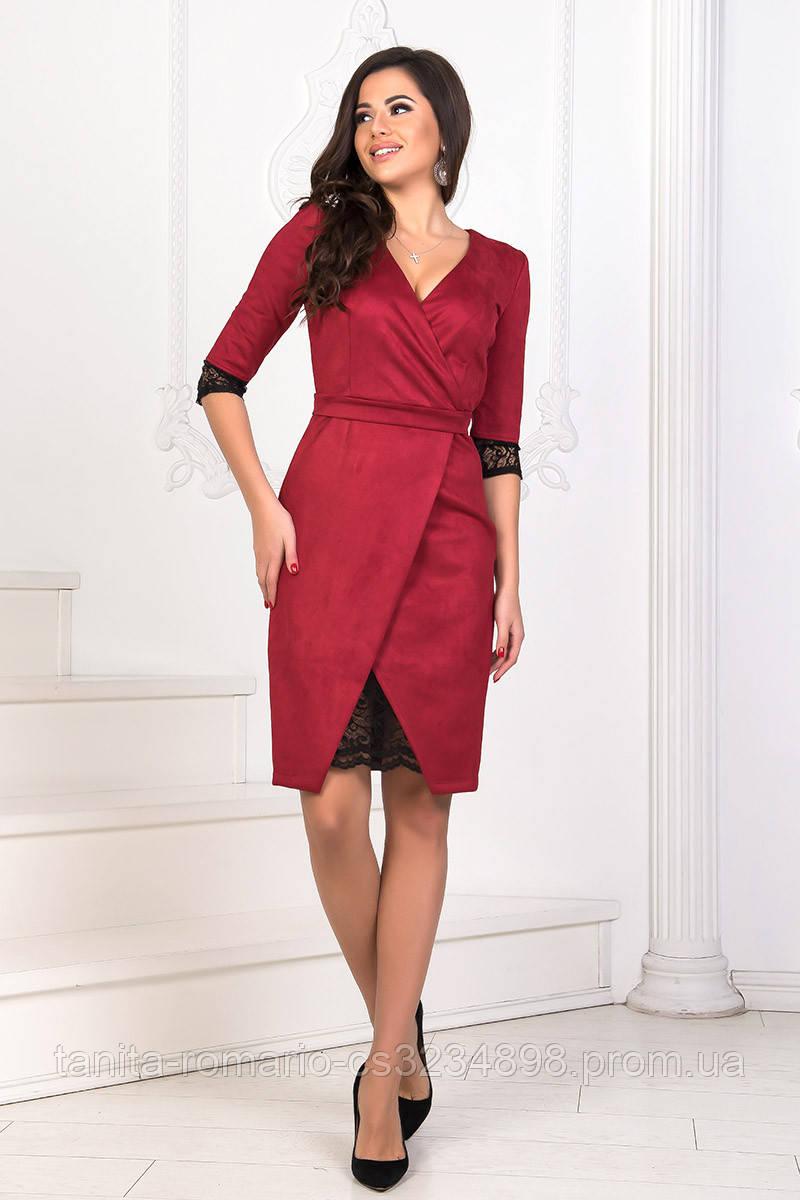 Повседневное платье 8200e Бордо S M L