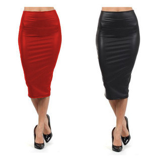 Стрейчевая юбка с широким поясом