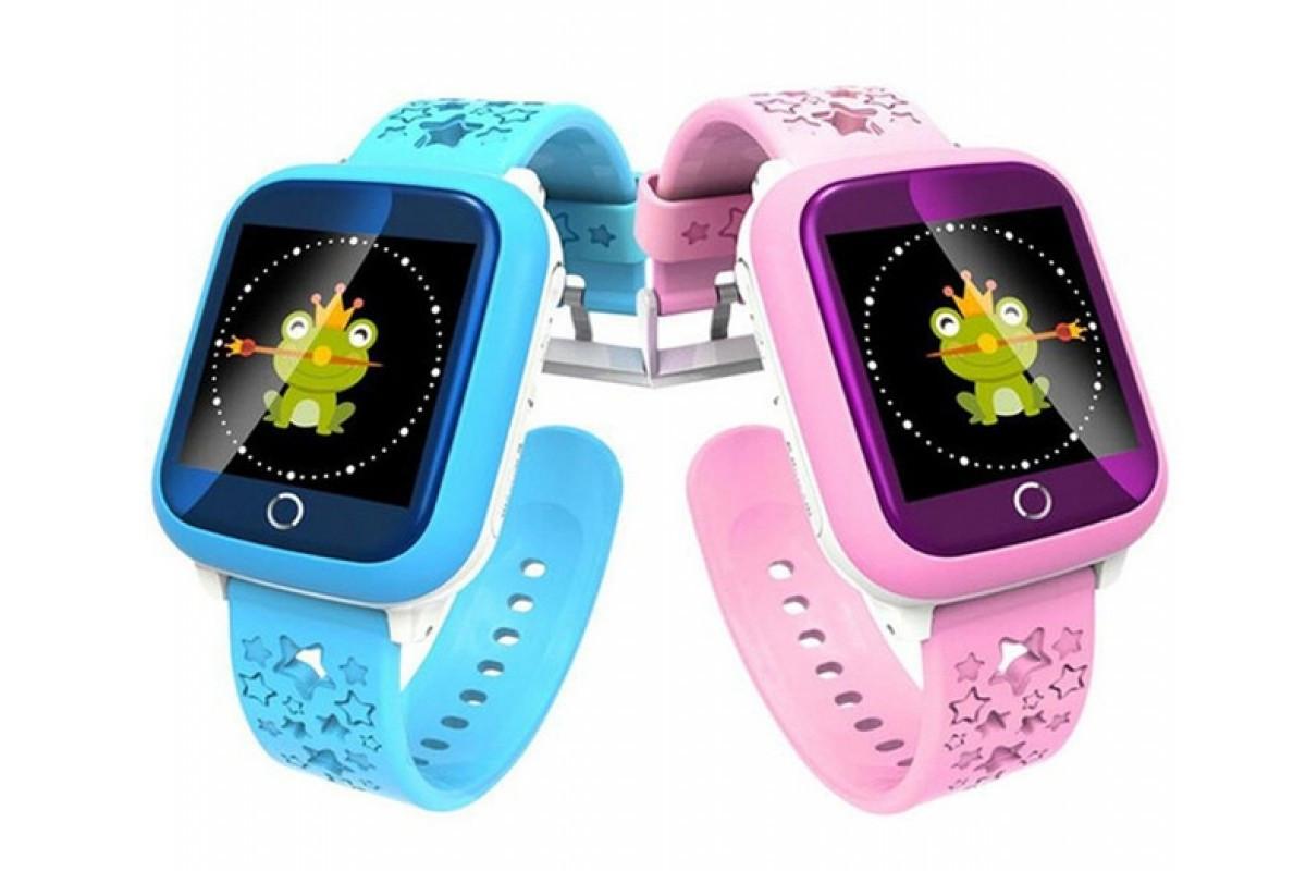 Детские смарт часы Smart Baby Watch ds28 голубой и розовый