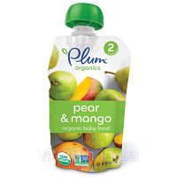Детское пюре из манго и груши, (Pear, Mango), Plum Organics, 133 г