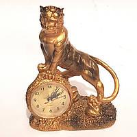 Часы настольные каминные Пантера (23х17 см) Onix [Керамика, Металл]