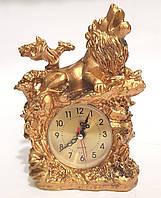 Часы настольные каминные Лев (19х15 см) Onix [Керамика, Металл]