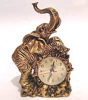 Часы настольные каминные Слон (22х15х8 см) Onix [Керамика, Металл]