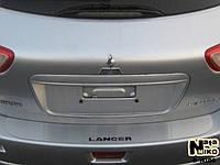 Mitsubishi Lancer X SW Накладка на задний бампер (нерж.)