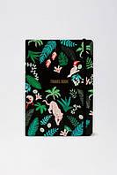Travel book jungle Parrot (черный), Travel book jungle Parrot (чорний), Веселая канцелярия