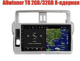 Штатная магнитола Toyota Prado 150 2014-2017 год 2Gb/32Gb Android 8.1 Allwinner T8