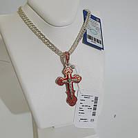 Срібний хрестик з емаллю, фото 1