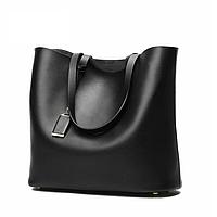 Сумка - шоппер женская модная черная