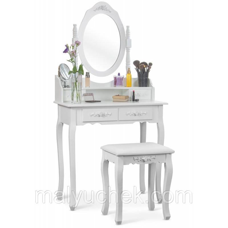 Косметичний стіл з дзеркалом і стулом Massido GLAMOUR (C 4 )