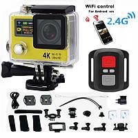 Экшн камера DVR SPORT S3R с пультом Wi Fi waterprof 4K, Водонепроницаемая крепление на руль и шлем