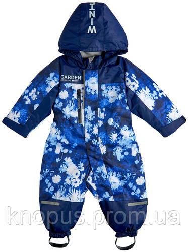 Комбинезон для мальчика с флисовой подкладкой,   Garden baby. Размеры 80 - 98