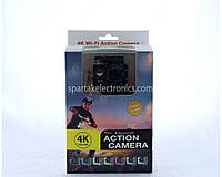 Экшн камера DVR SPORT S2 Wi Fi waterprof 4K, Водонепроницаемая крепление на руль и шлем