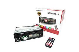 Автомагнитола 1DIN MP3-1581BT RGB/Bluetooth | Автомобильная магнитола