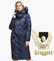 Воздуховик удлиненный зимний женский Braggart Angel's Fluff - 31031 синий бархат