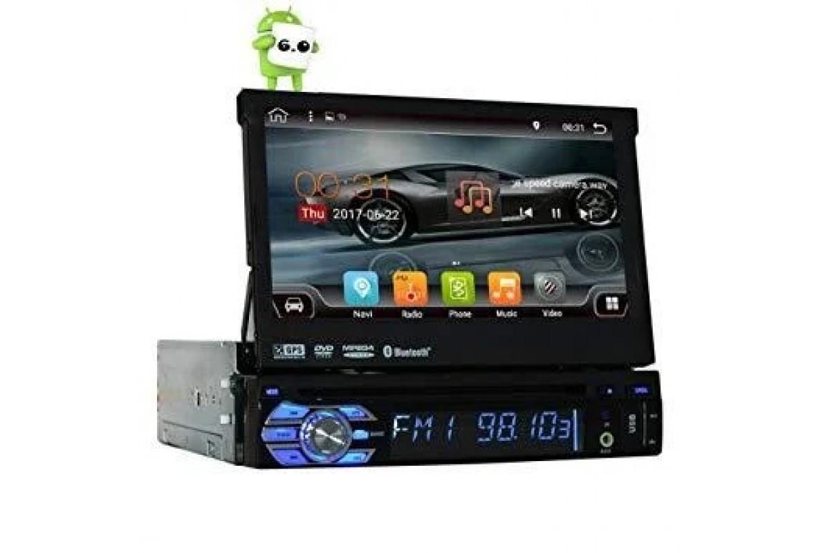 Автомагнитола 1DIN DVD-9501 Android GPS с выезжающим экраном |  магнитола автомобильная