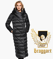 Воздуховик удлиненный зимний женский Braggart Angel's Fluff - 31058 черный