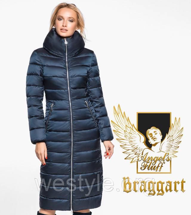 Воздуховик удлиненный зимний женский Braggart Angel's Fluff - 31074 сапфировый