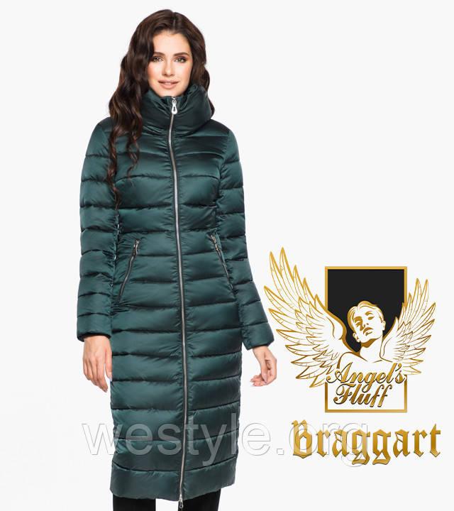 Воздуховик удлиненный зимний женский Braggart Angel's Fluff - 31074 изумруд