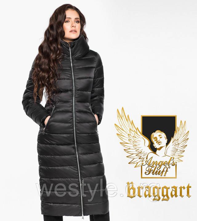 Воздуховик удлиненный зимний женский Braggart Angel's Fluff - 31074 черный