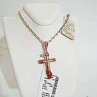 Срібний хрестик з емаллю