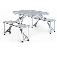 Складной алюминиевый стол для пикника со стульями Folding table white SKL11-187128