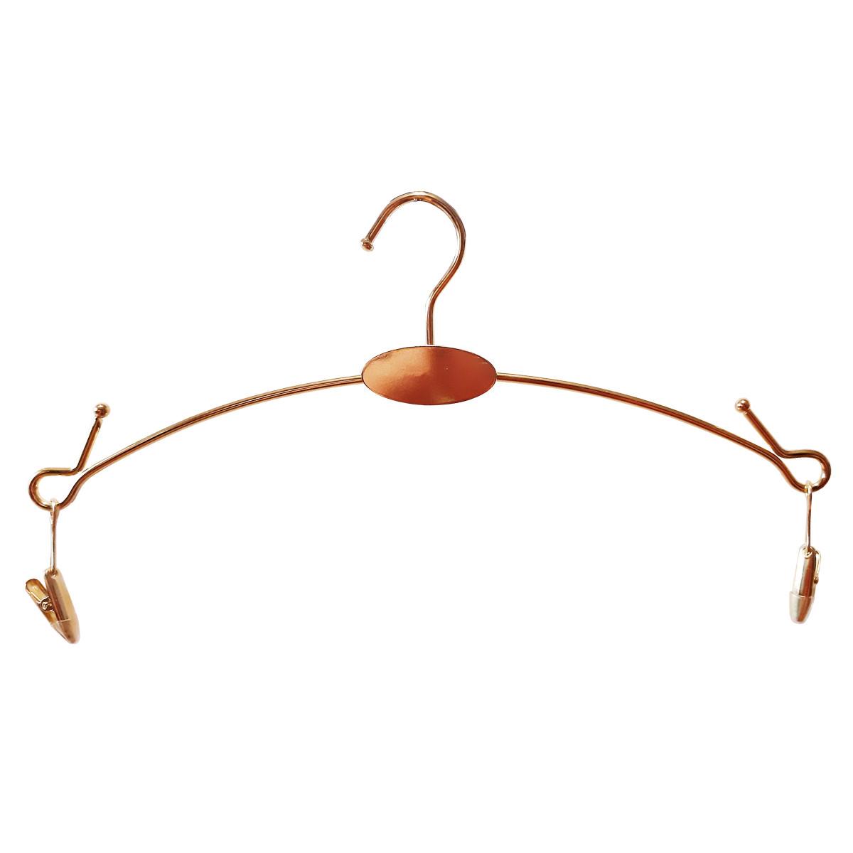 Плечики вешалки металлические золото для нижнего белья