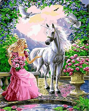 Картина за номерами 40×50 див. Babylon Принцеса і її єдиноріг (VP 437)