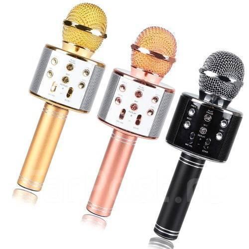 Беспроводной блютуз микрофон караоке