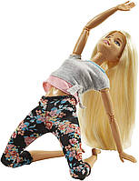 Кукла Барби йога серия Двигайся как я Блондинка Barbie Made to Move