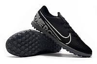 Футбольные сороконожки Nike Mercurial Vapor XIII Club TF Black/Metallic Cool Grey, фото 1
